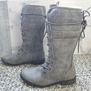 Just Fab Mya lace up boots.